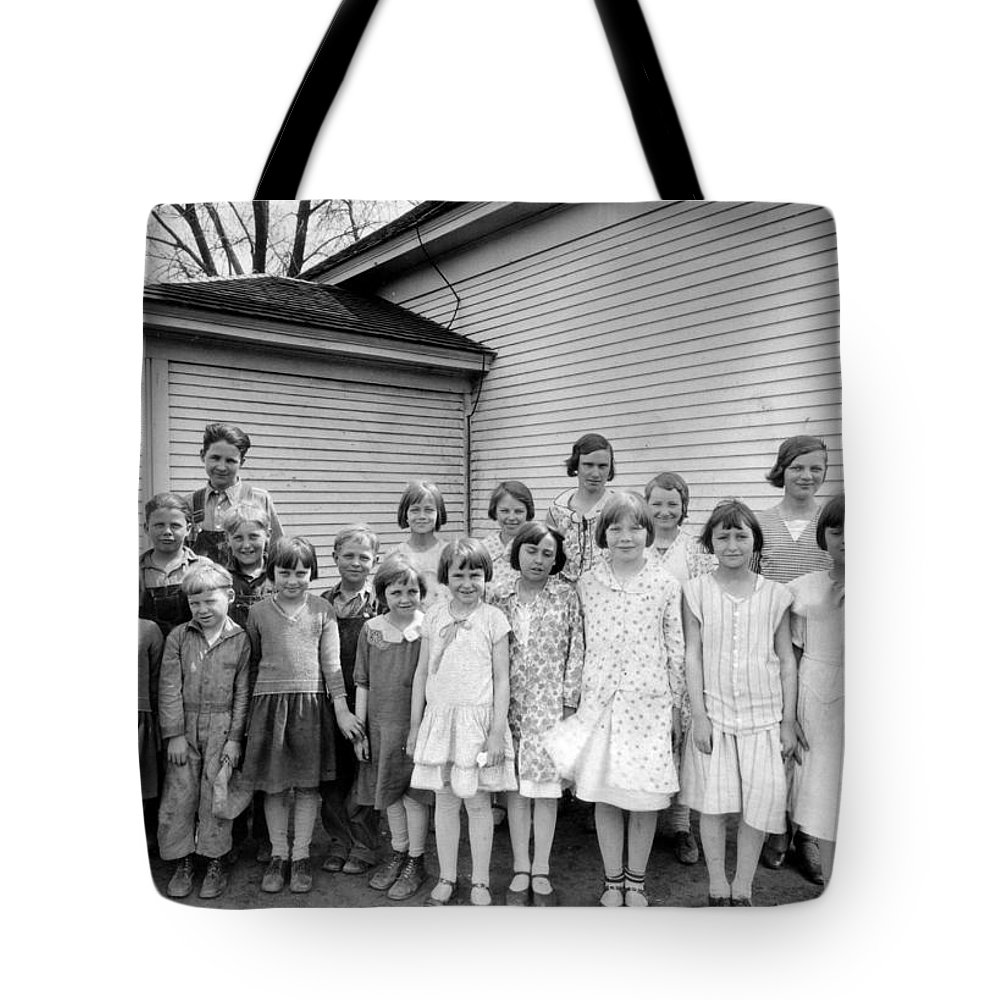 Country School Tote Bag featuring the photograph Country School by Bonfire Photography
