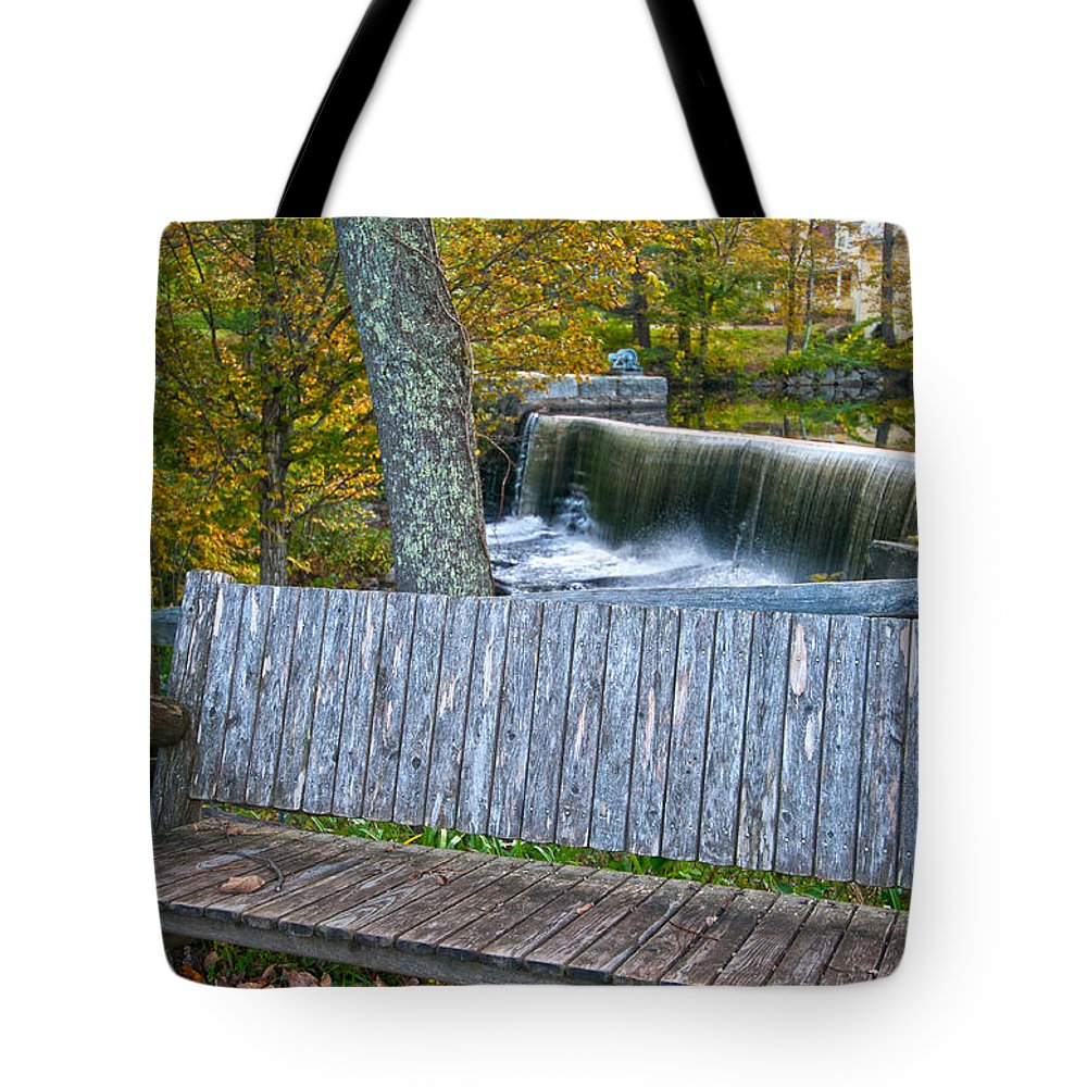 water Falls Tote Bag featuring the photograph Country Setting by Paul Mangold