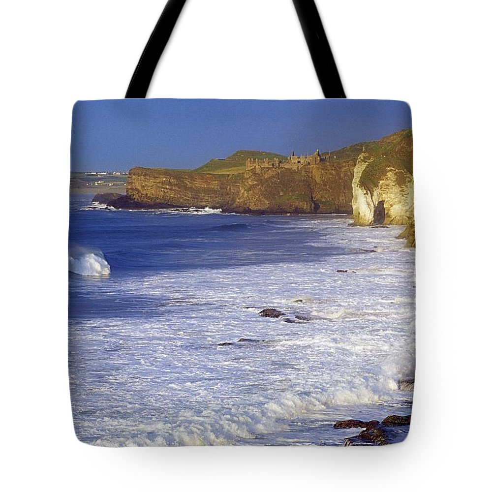 Attraction Tote Bag featuring the photograph County Antrim, Ireland Seascape With by Gareth McCormack