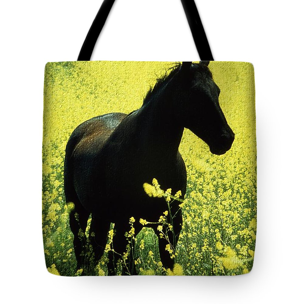 Ireland Tote Bag featuring the photograph County Tipperary, Ireland Horse In A by Richard Cummins