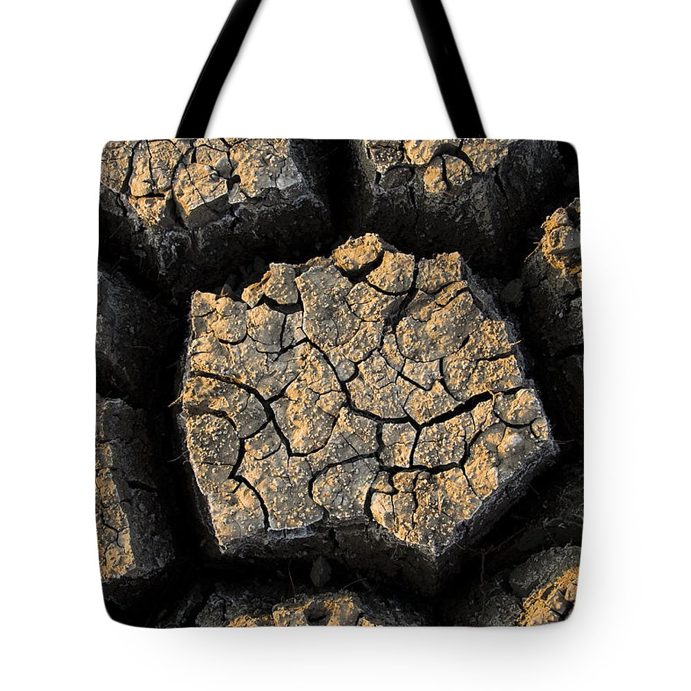 Fn Tote Bag featuring the photograph Cracked, Dried Out Mud, Mokolodi Nature by Vincent Grafhorst