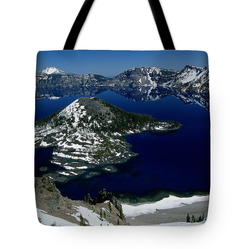Crater Lake Tote Bag featuring the photograph Crater Lake National Park, Oregon by Raymond Gehman