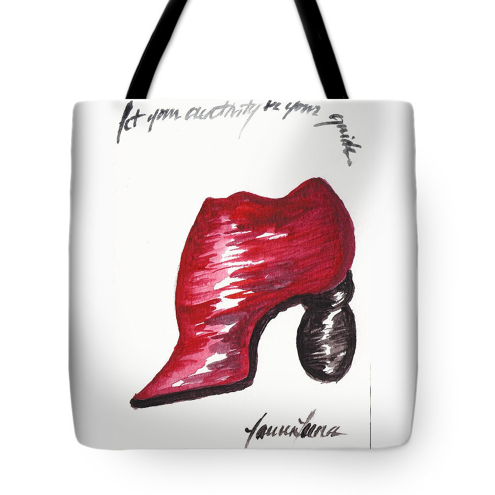 Shoe Tote Bag featuring the painting Creativity Shoe by Lauren Luna