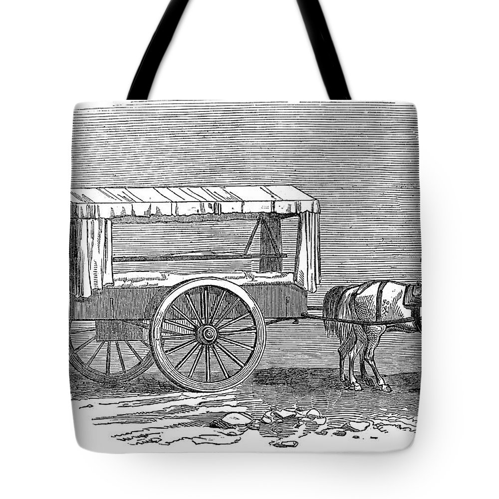1854 Tote Bag featuring the photograph Crimean War: Ambulance by Granger