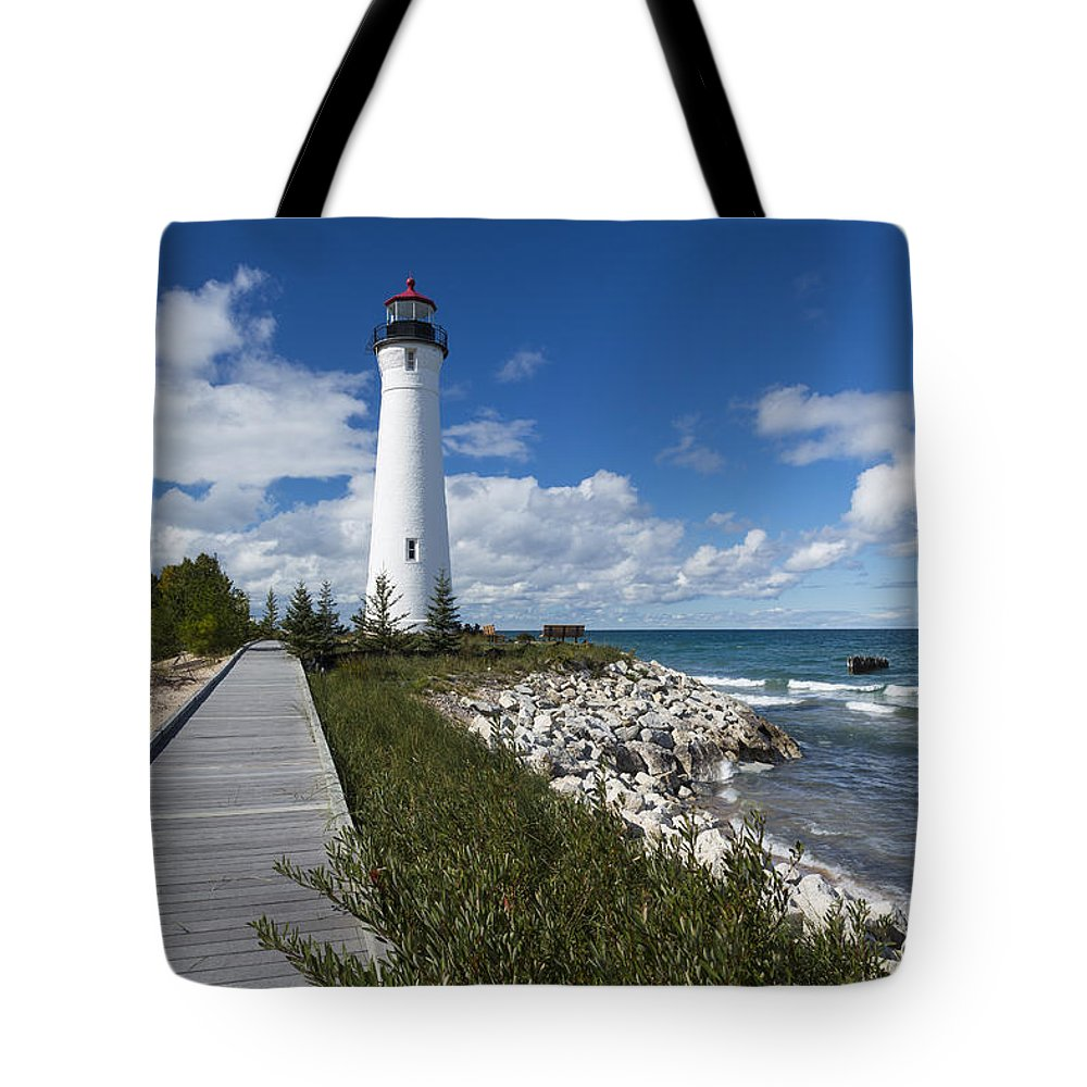 Crisp Tote Bag featuring the photograph Crisp Point Lighthouse 10 by John Brueske