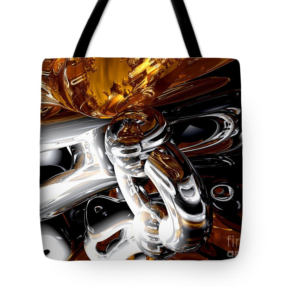3d Tote Bag featuring the digital art Cross Pollination by Alexander Butler