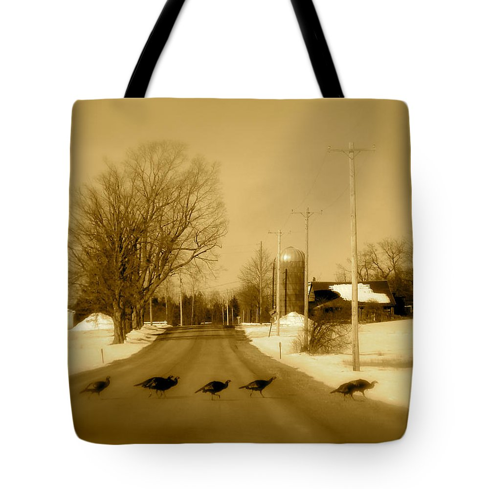 Landscape Tote Bag featuring the photograph Crossing by Arthur Barnes