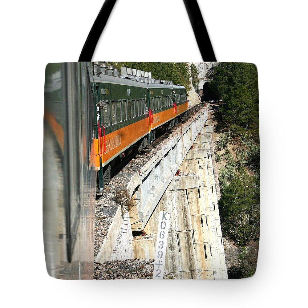 Digital Photograph Tote Bag featuring the photograph Crossing The Gorge by Laurel Talabere