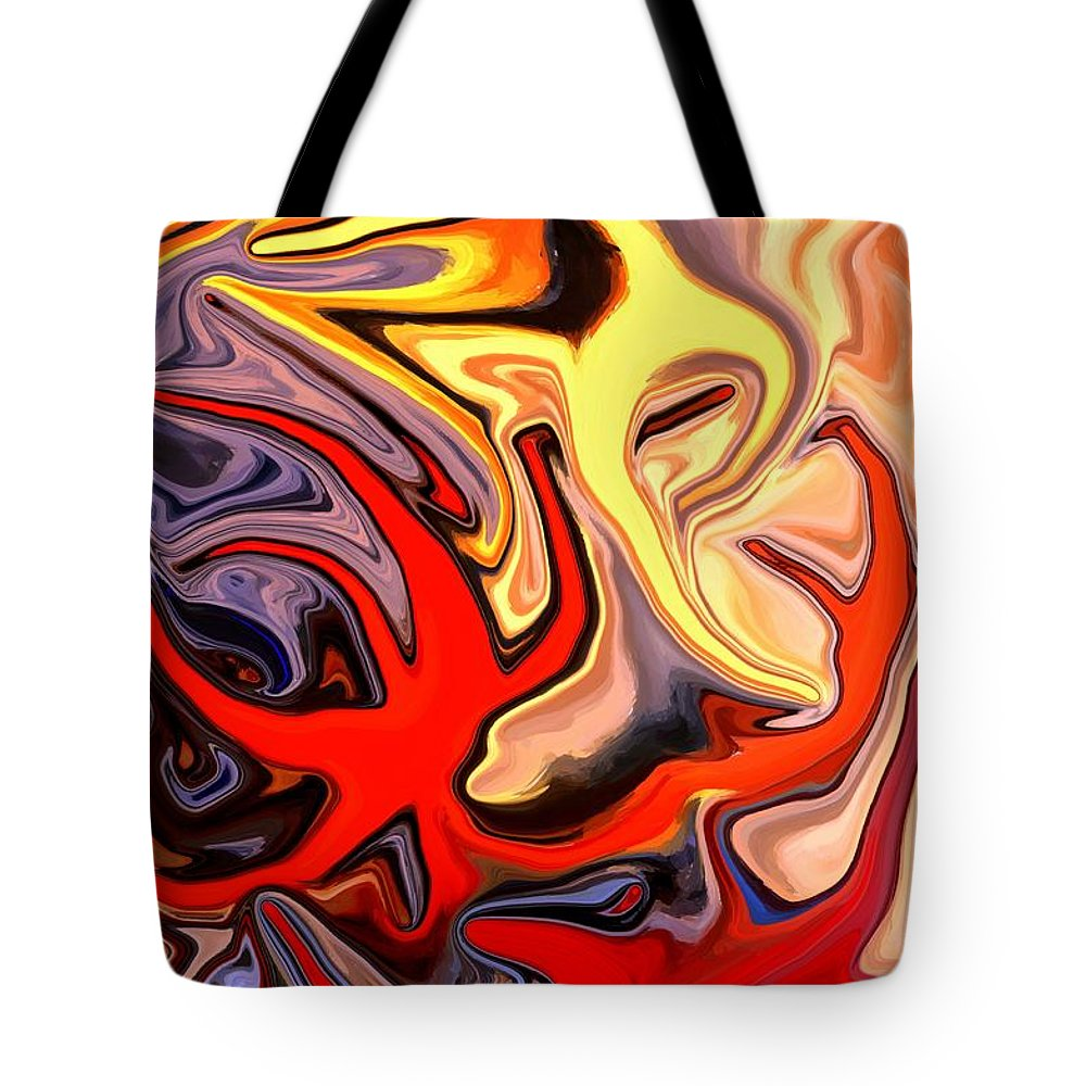 Abstract Tote Bag featuring the mixed media Crown Of Thorns Starfish by Chris Butler