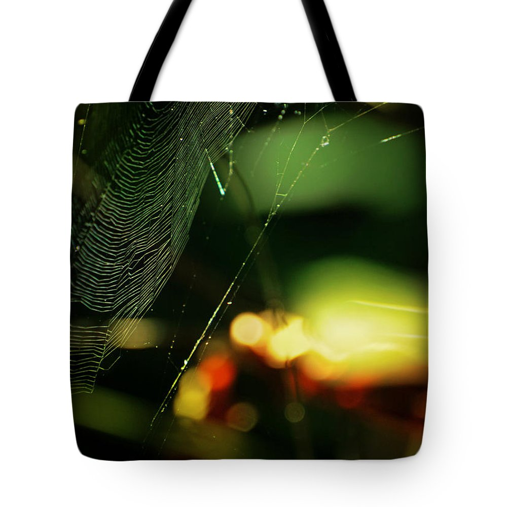Spiderweb Tote Bag featuring the photograph Crown'd by Rebecca Sherman