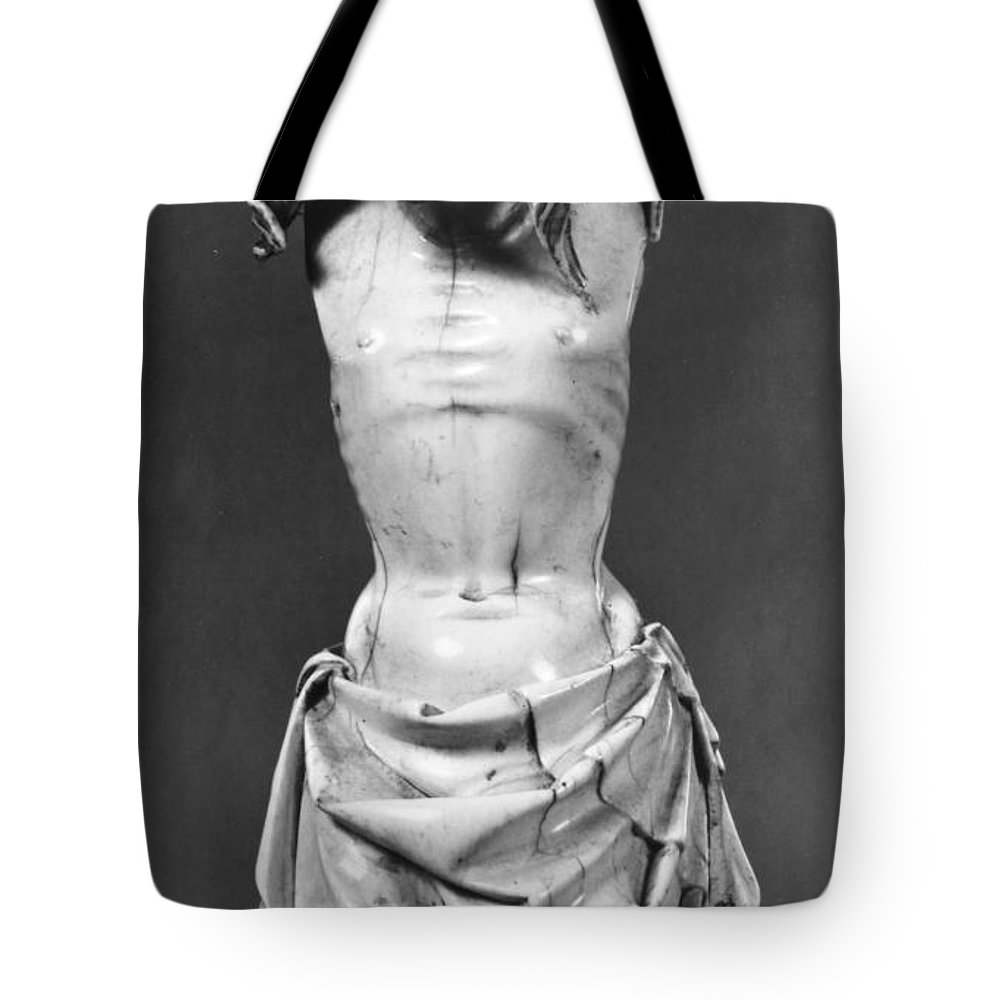 14th Century Tote Bag featuring the photograph Crucified Christ by Granger