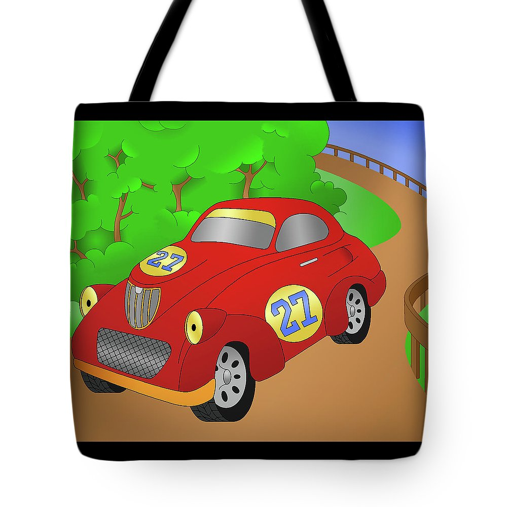 Auto Tote Bag featuring the digital art Cruiser by Alison Stein