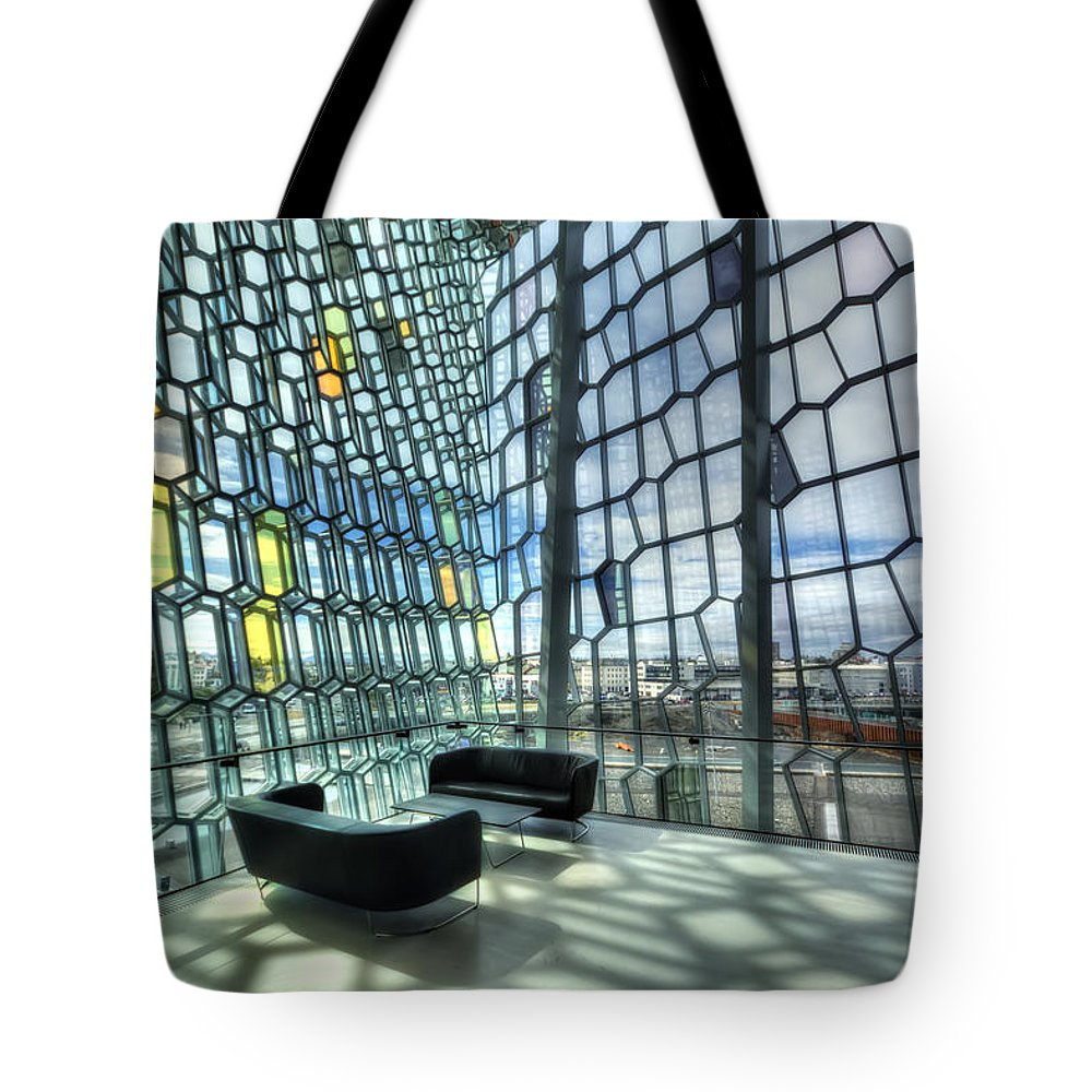 Harpa Tote Bag featuring the photograph Crystal Fantasy by Evelina Kremsdorf