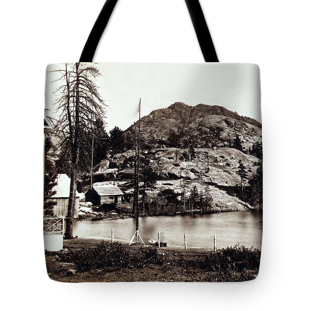California Tote Bag featuring the photograph Crystal Lake And Black Butte - California - C 1865 by International Images
