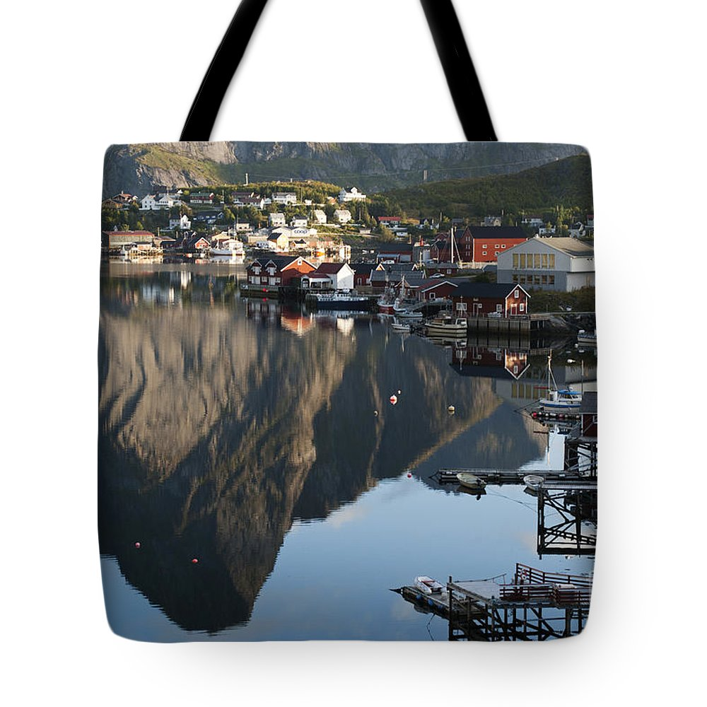 Norway Tote Bag featuring the photograph Crystal Waters At Reine Village by Heiko Koehrer-Wagner