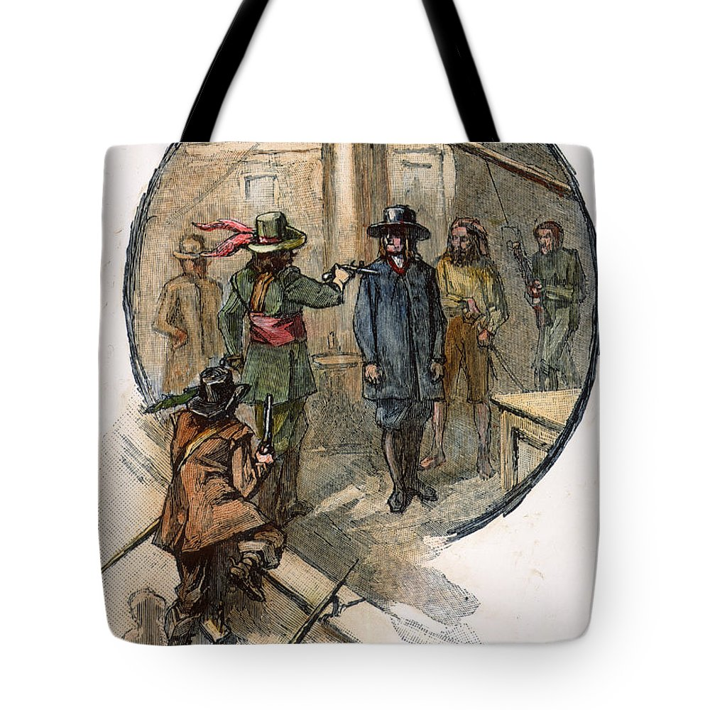 1677 Tote Bag featuring the photograph Culpepers Rebellion, 1677 by Granger