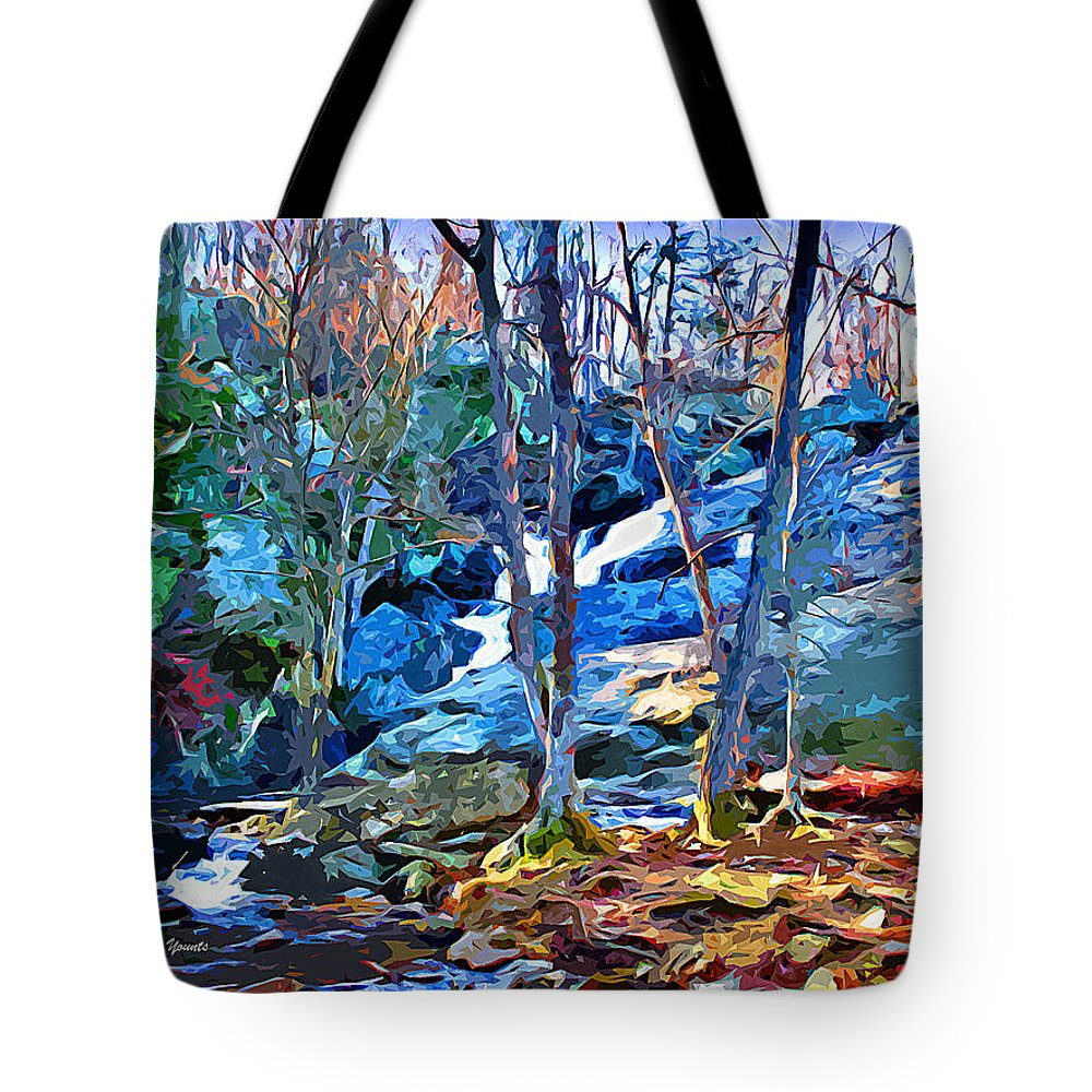 Catoctin Mountain Park Tote Bag featuring the digital art Cunningham Falls by Stephen Younts