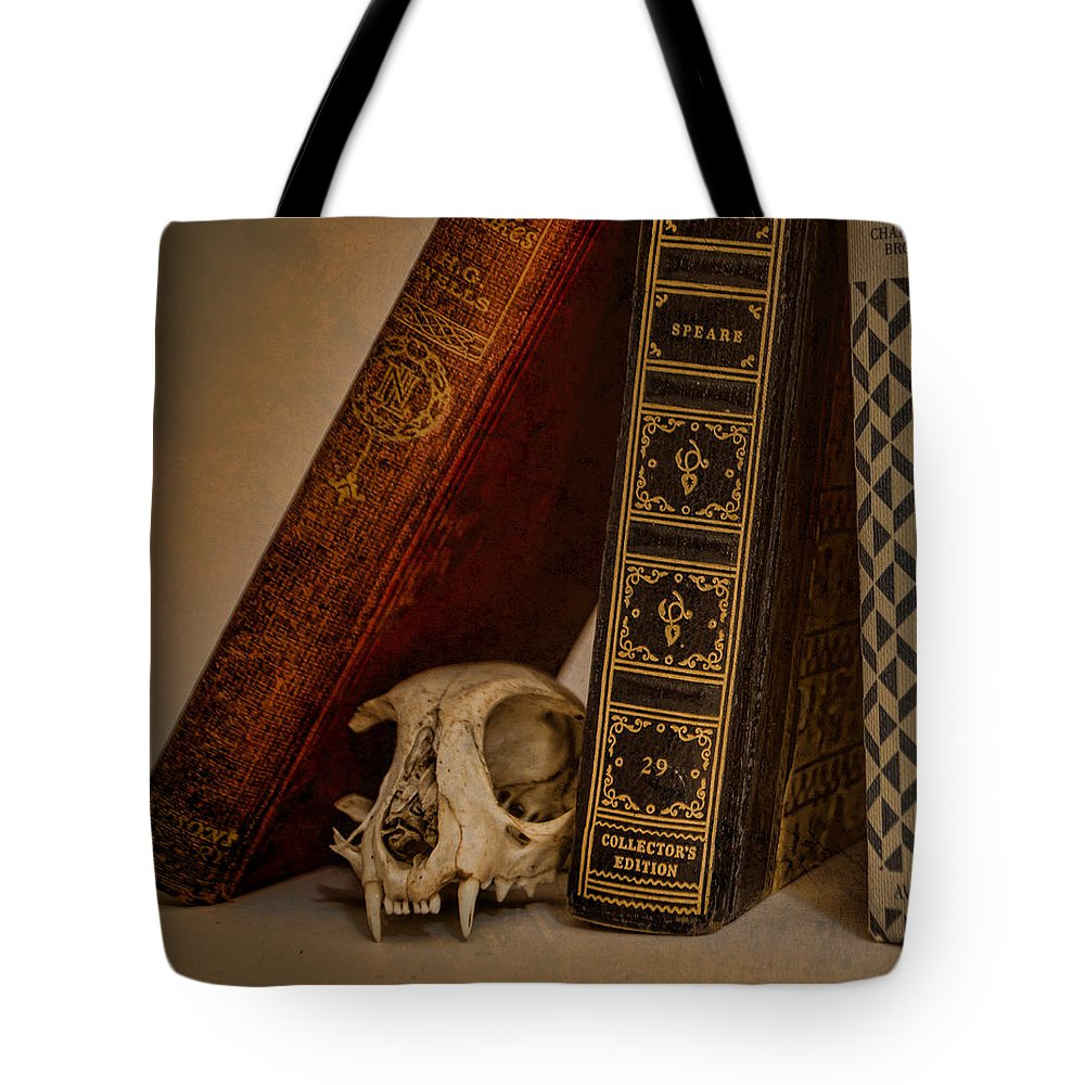 Bone Tote Bag featuring the photograph Curiosity Killed The Cat by Heather Applegate