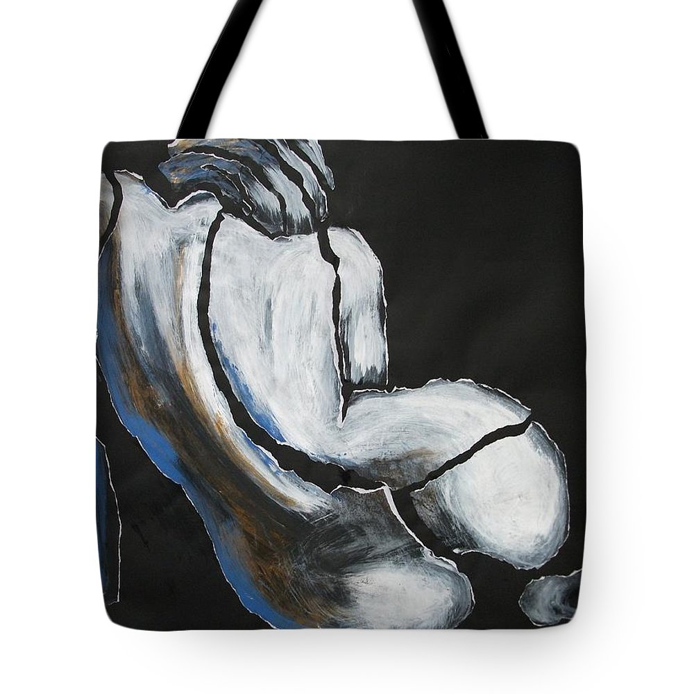 Original Tote Bag featuring the painting Curves20 - Female Nude by Carmen Tyrrell