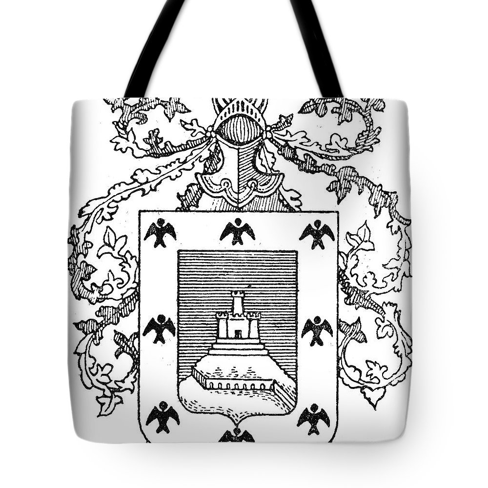 City Tote Bag featuring the photograph Cusco: Coat Of Arms by Granger