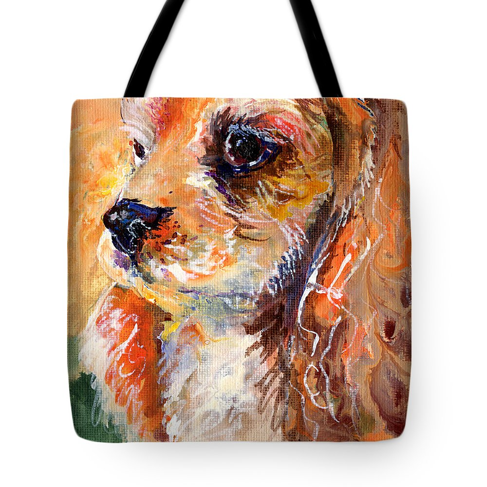 Dog Tote Bag featuring the painting Cuteness by Sherry Shipley