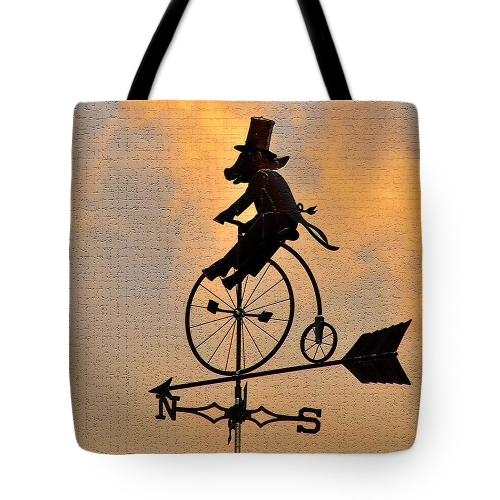 Art Tote Bag featuring the photograph Cycling Pig by David Lee Thompson
