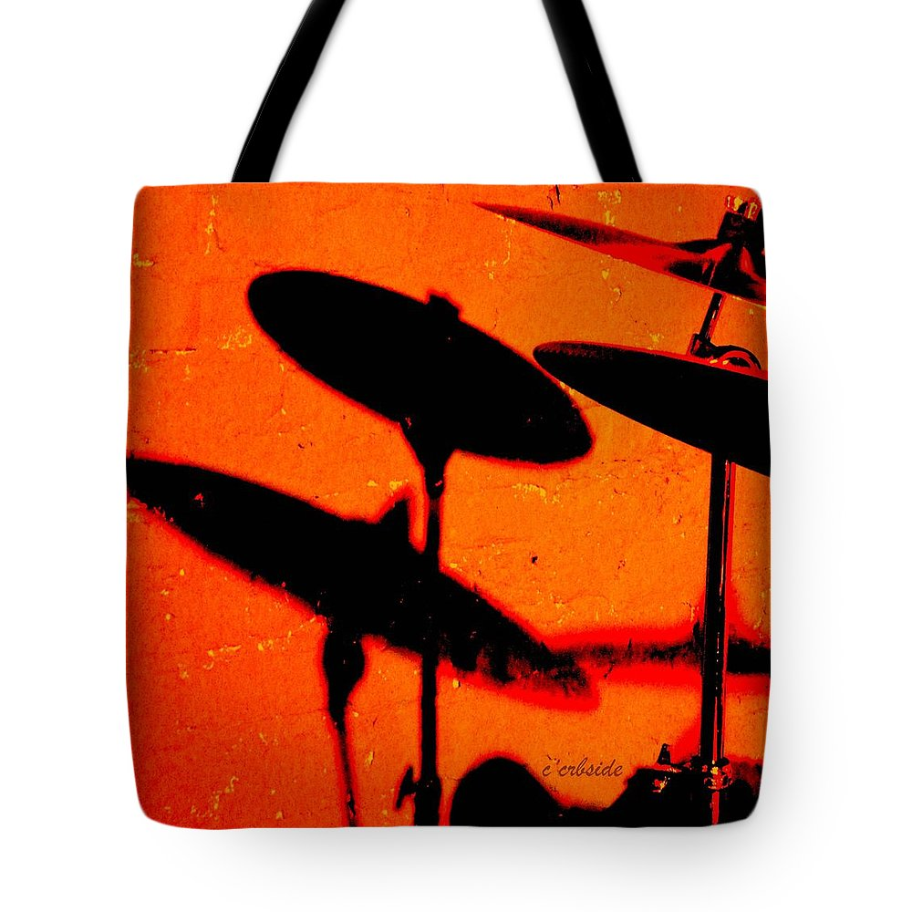 Cymbals Tote Bag featuring the photograph Cymbalic by Chris Berry