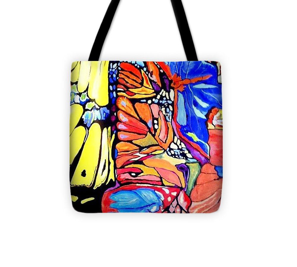 Butterfly Tote Bag featuring the painting Butterflies Wings by Sandra Lira