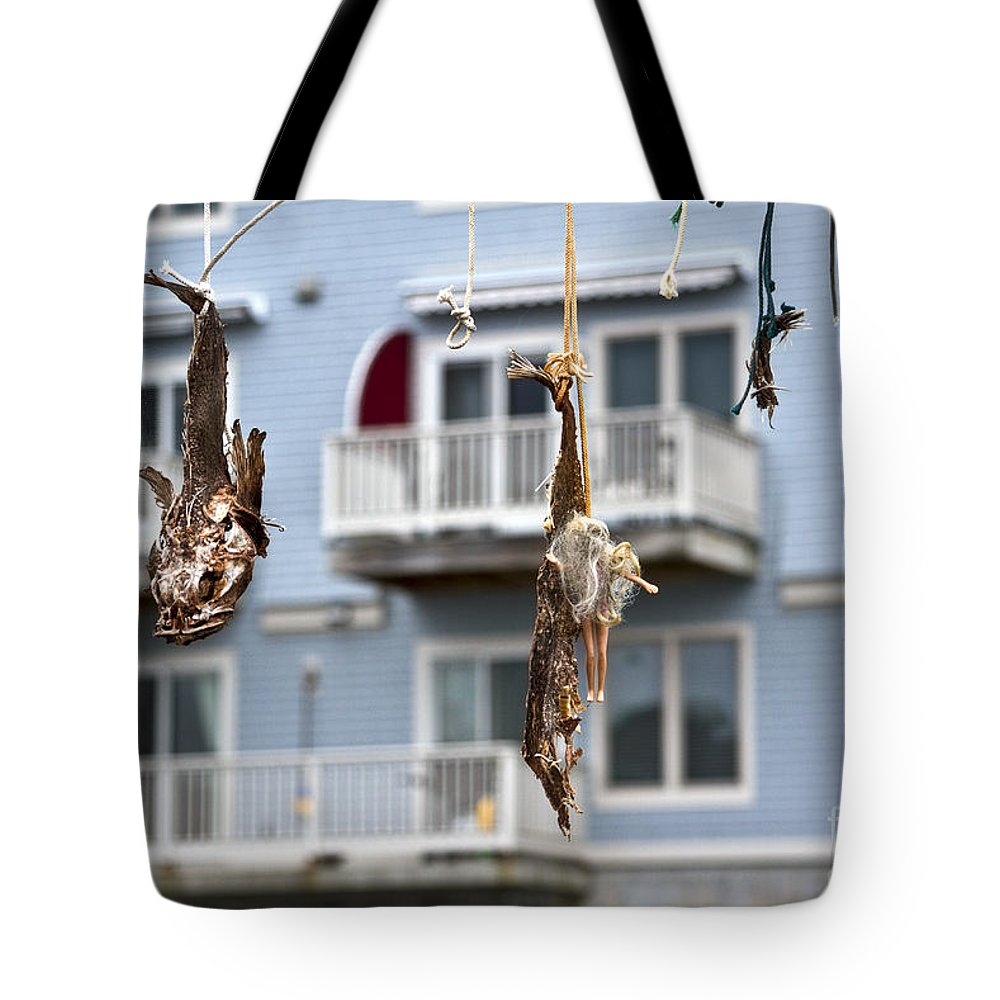 Portland Tote Bag featuring the photograph Daily Catch by Brenda Giasson