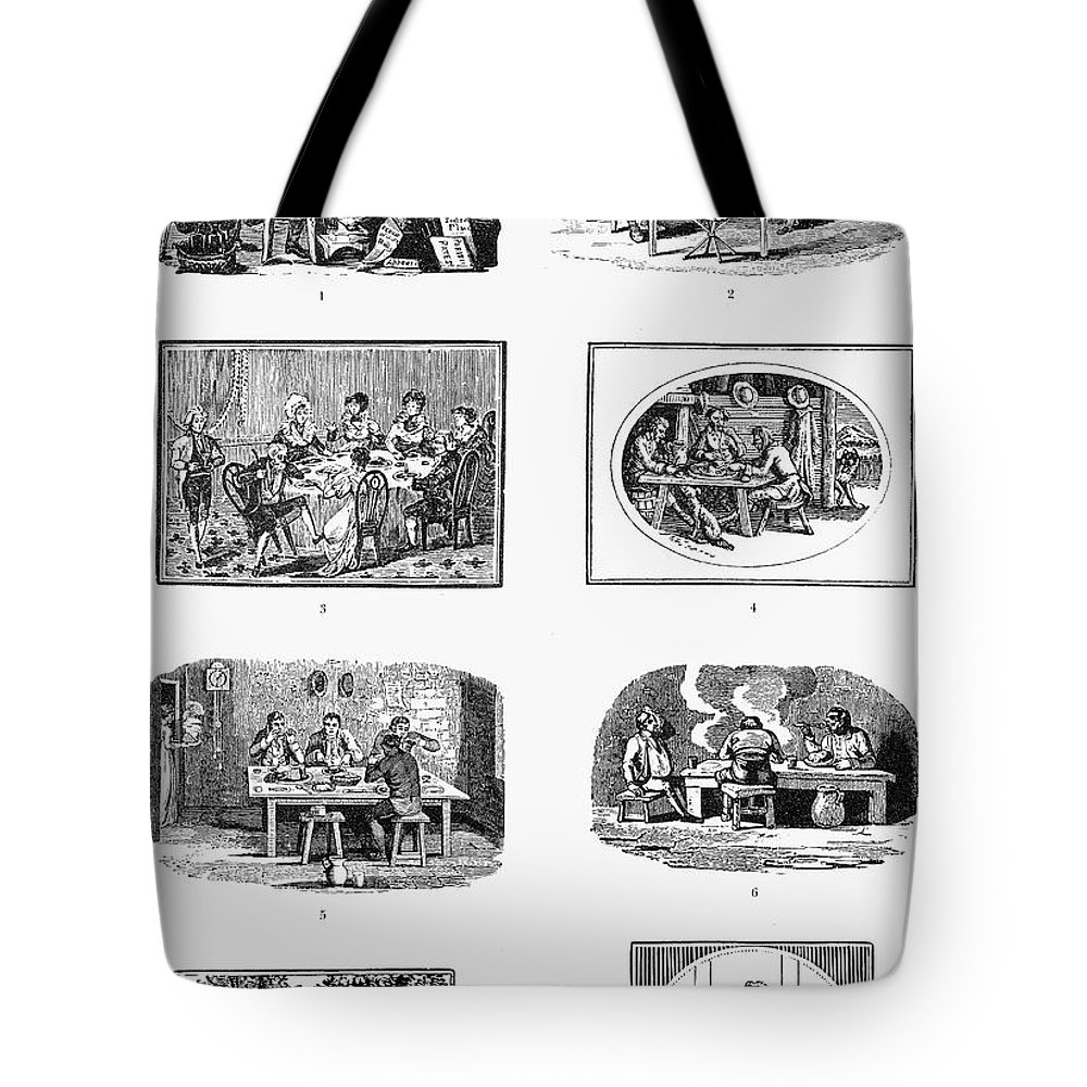 19th Century Tote Bag featuring the photograph Daily Life: Dining by Granger