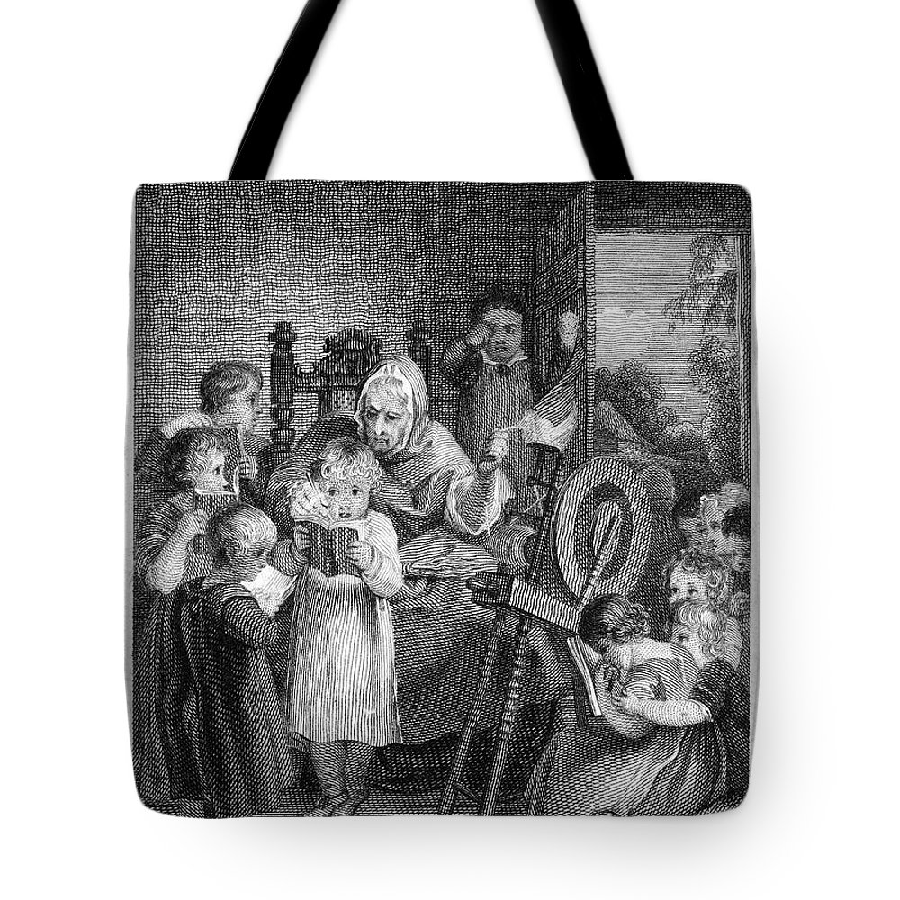 1812 Tote Bag featuring the photograph Dames School, 1812 by Granger