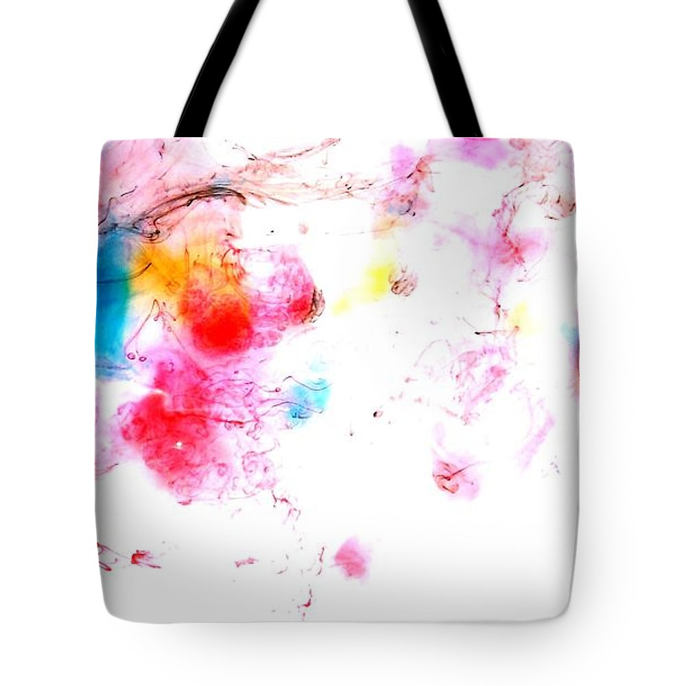 Abstract Background Tote Bag featuring the painting Dance Of Colors by Georgeta Blanaru
