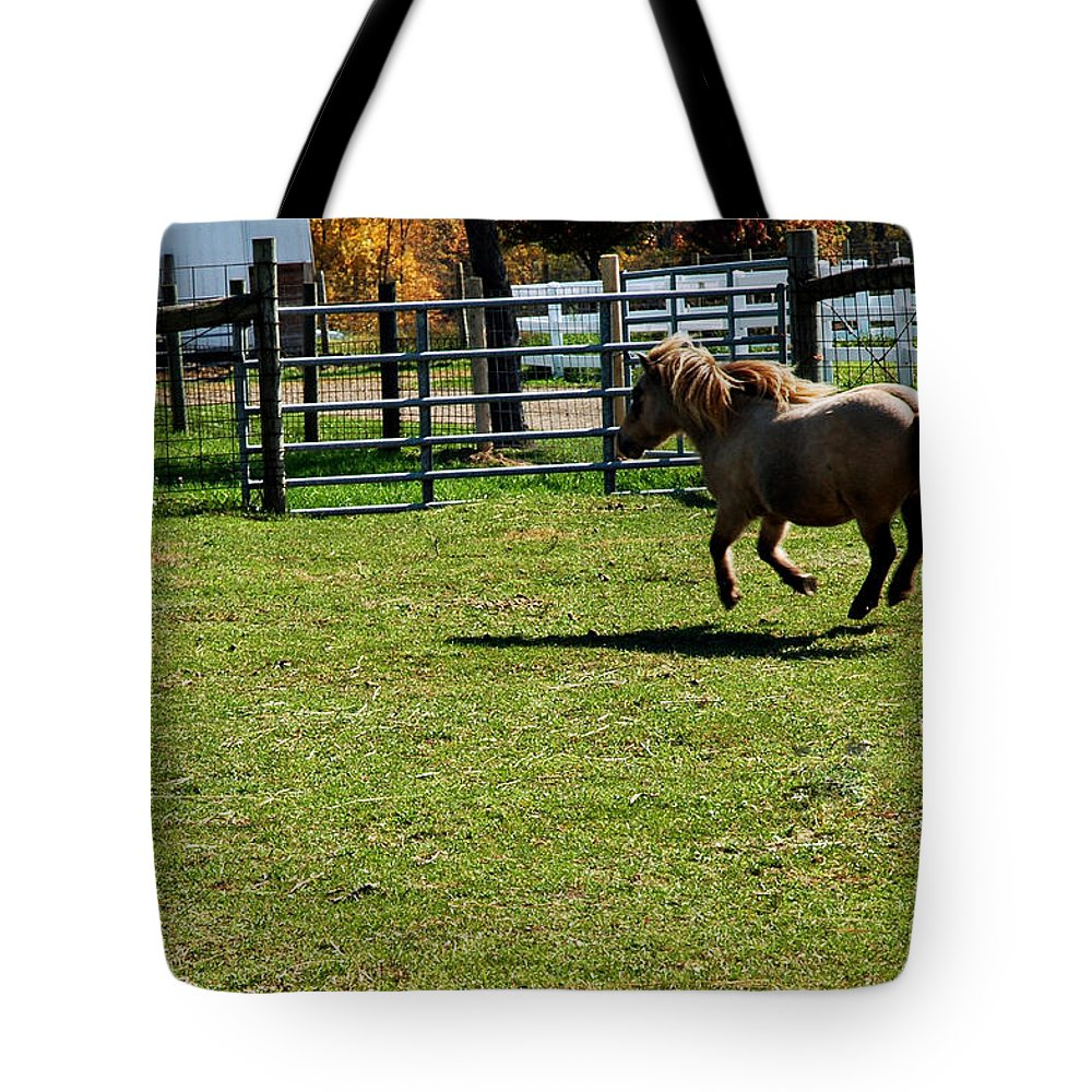 Usa Tote Bag featuring the photograph Dancing Pony by LeeAnn McLaneGoetz McLaneGoetzStudioLLCcom