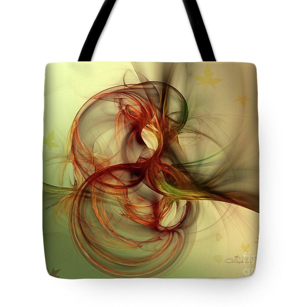 Fractal Tote Bag featuring the digital art Dancing Wood Spirit by Jutta Maria Pusl