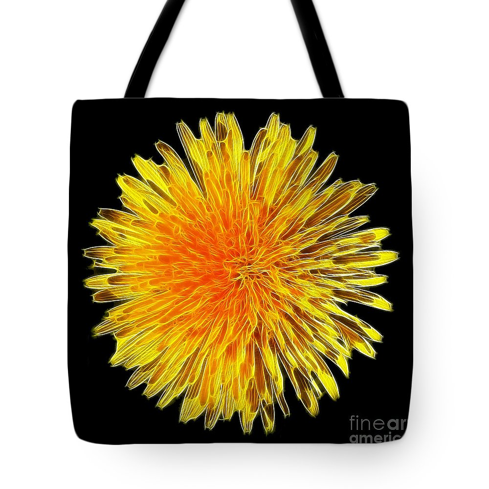Dandelion Tote Bag featuring the photograph Dandelion Head by Steev Stamford