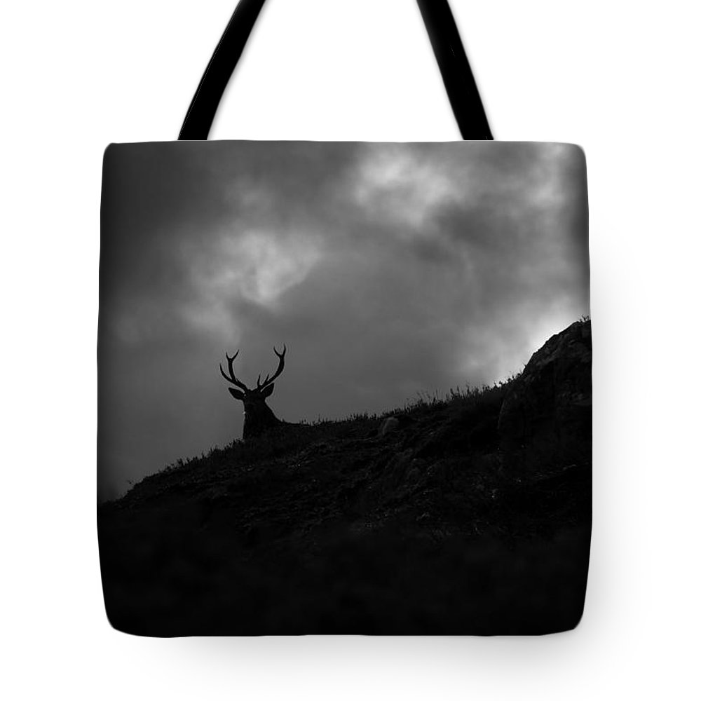 Silhouette Tote Bag featuring the photograph Dark And Stormy by Gavin Macrae
