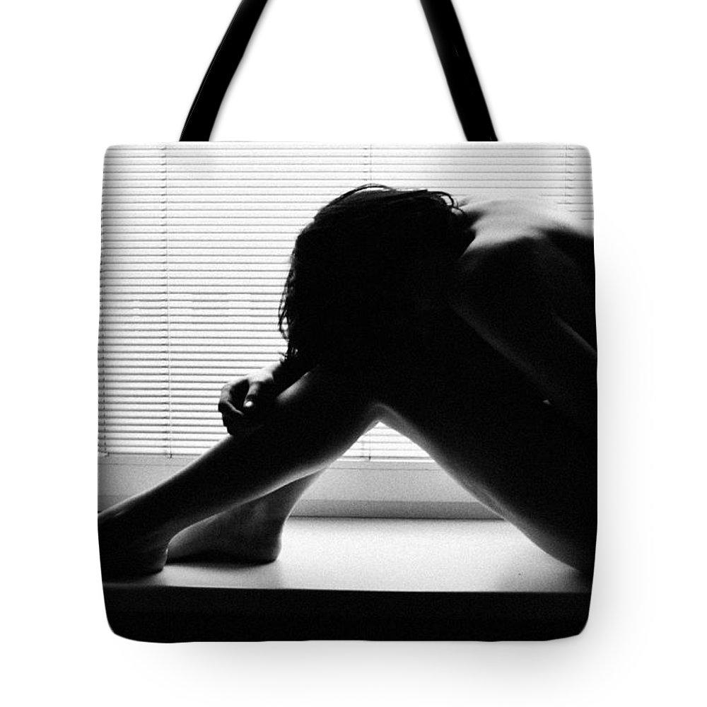 Room Tote Bag featuring the photograph Dark Girl 3 by Eivydas Timinskas