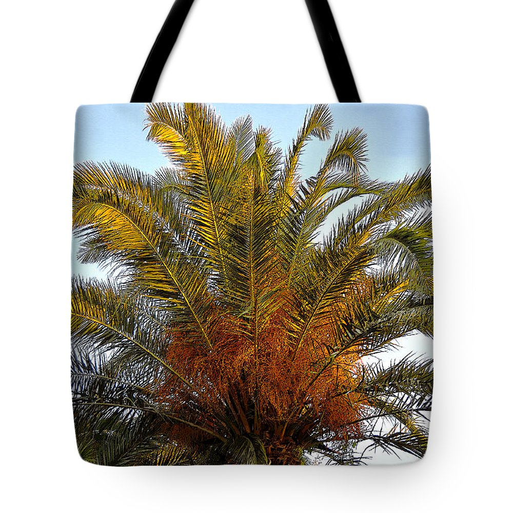 Date Palm Tree Tote Bag featuring the painting Date Palm by David Lee Thompson