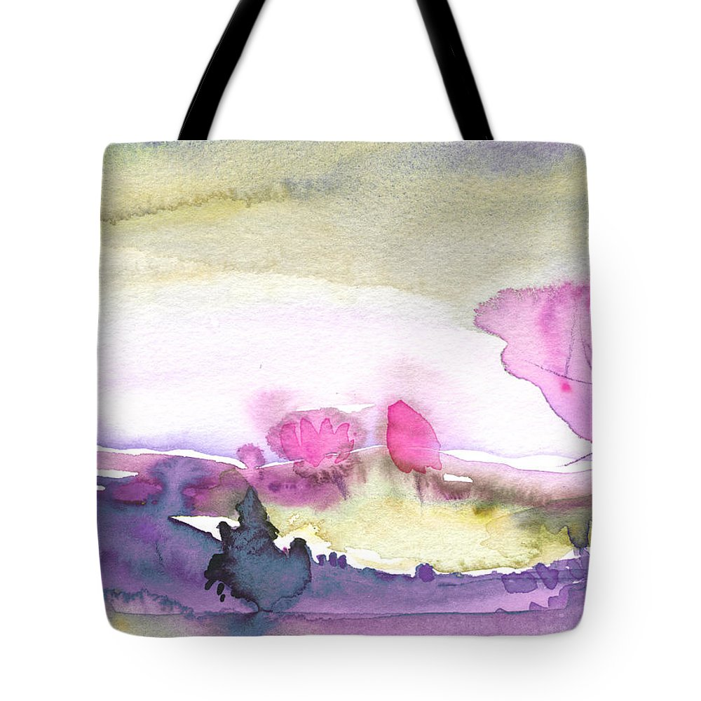 Dawn Tote Bag featuring the painting Dawn 31 by Miki De Goodaboom