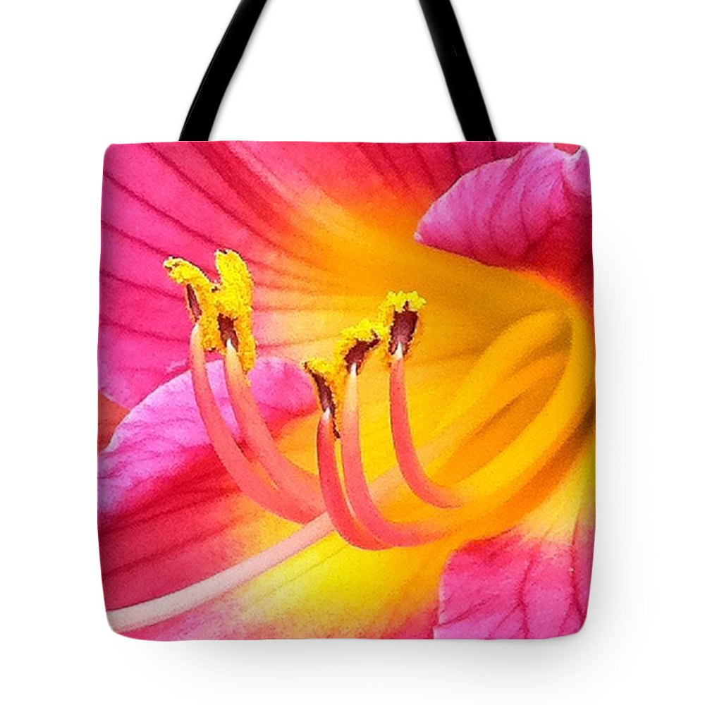 Pink Tote Bag featuring the photograph Dazzler by Marla McFall