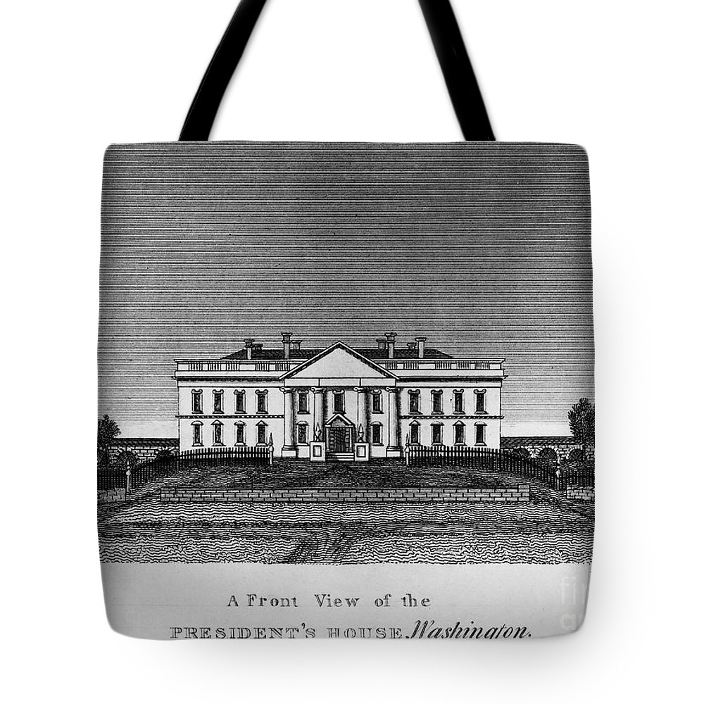 1820 Tote Bag featuring the photograph D.c.: White House, 1820 by Granger