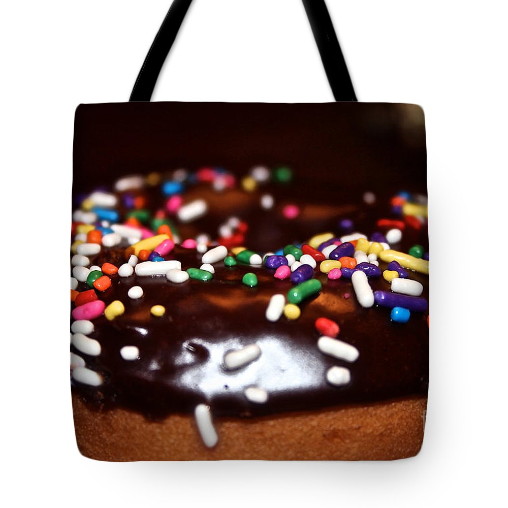 Http://www.cafepress.com/fauxpawzfineart Tote Bag featuring the photograph Death By Doughnut by Susan Herber