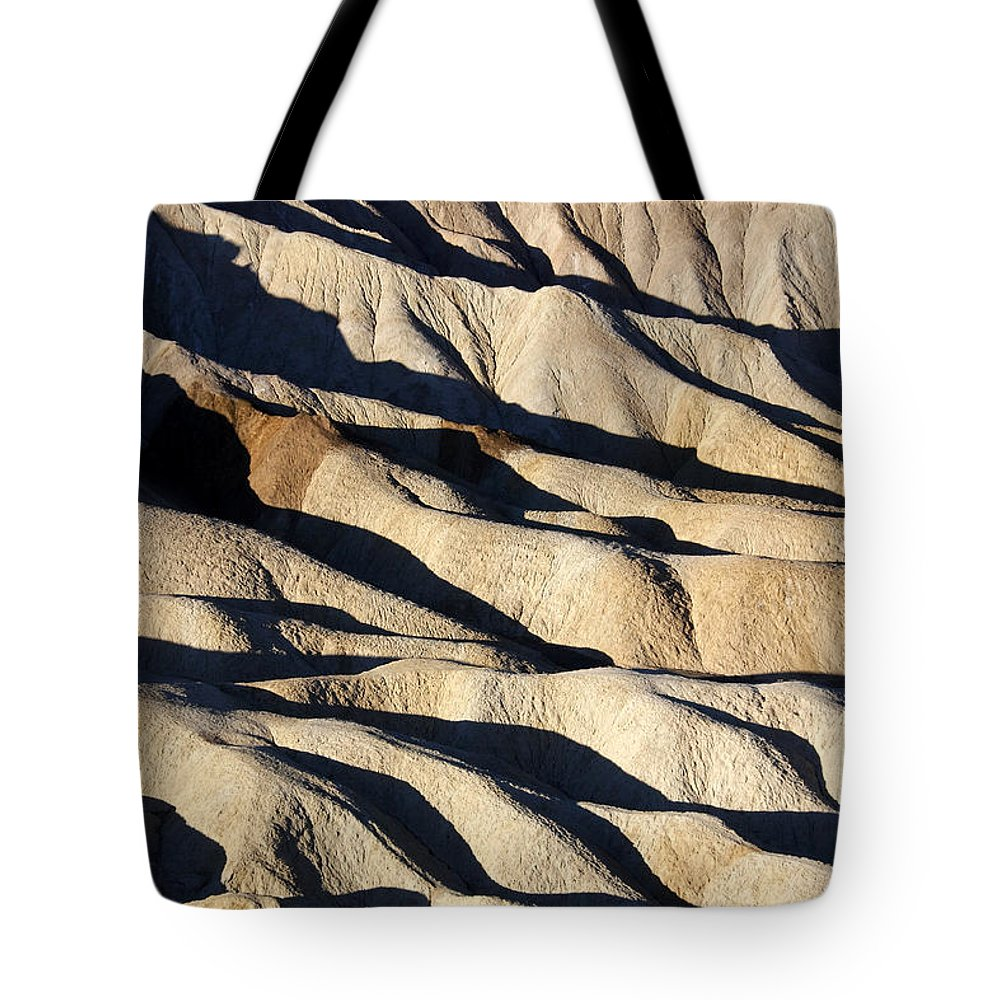 Death Valley Erosion Tote Bag featuring the photograph Death Valley Erosion by Wes and Dotty Weber