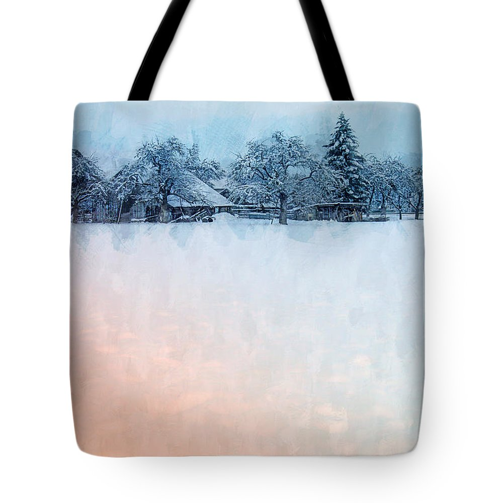 Photo Tote Bag featuring the photograph December Snow by Jutta Maria Pusl
