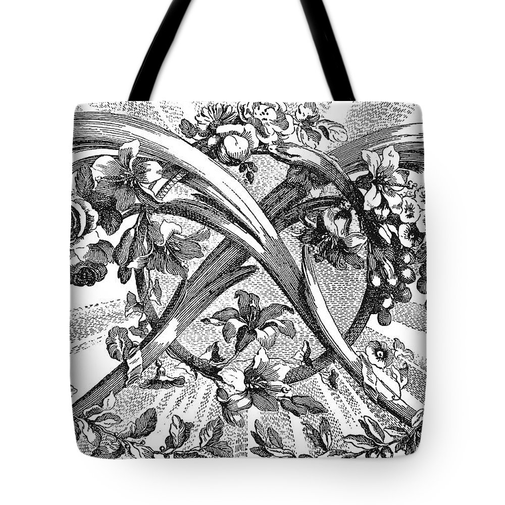 1762 Tote Bag featuring the photograph Decorative Engraving by Granger