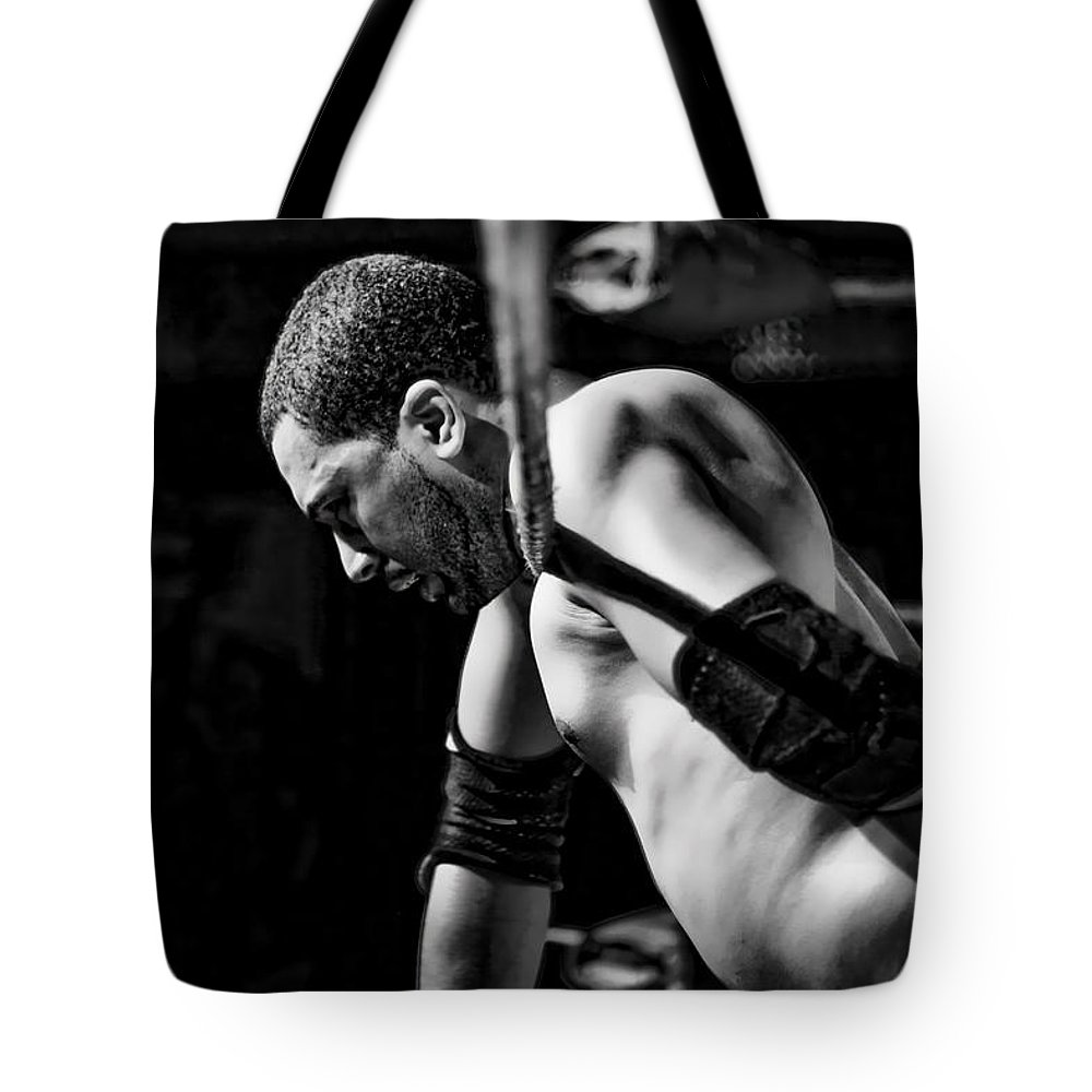 Man Tote Bag featuring the photograph Defeated No.1 by David Sanchez
