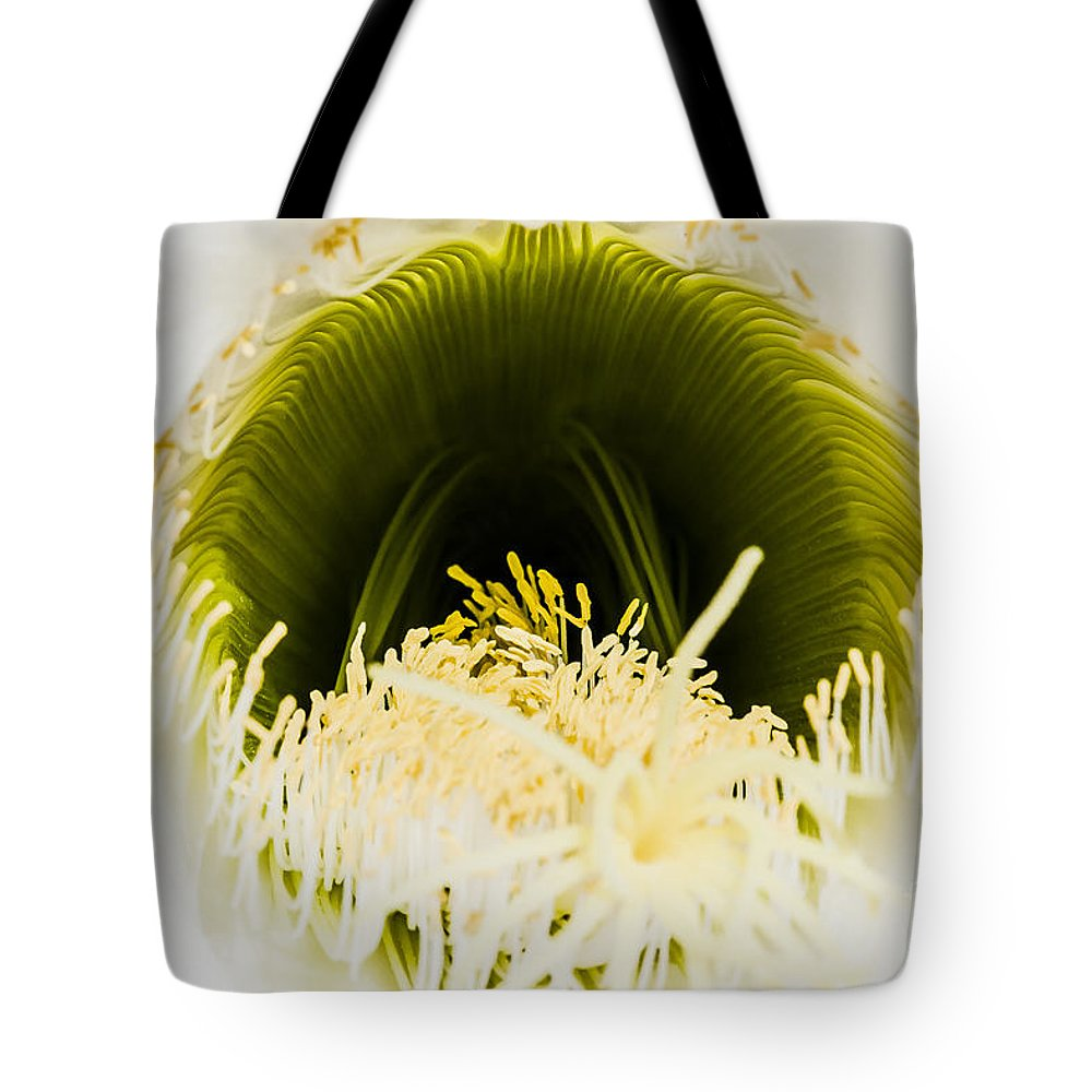 California Tote Bag featuring the photograph Depths Of The Cactus Flower by Darcy Michaelchuk