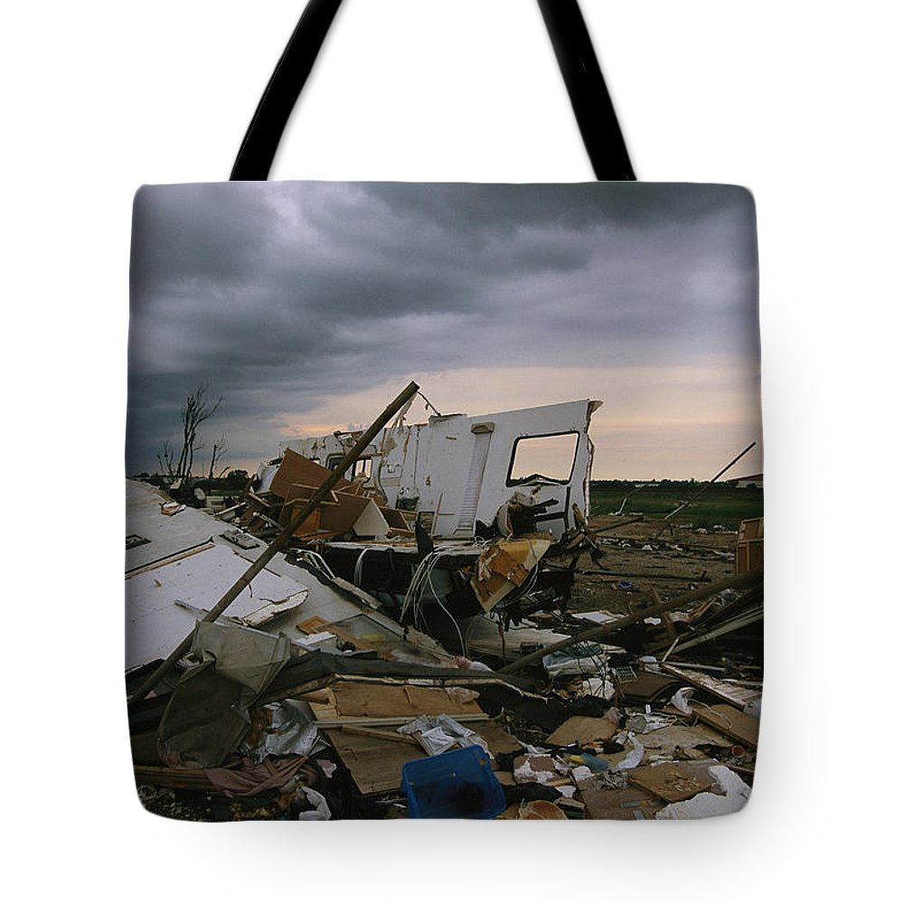 North America Tote Bag featuring the photograph Destruction Left In The Wake by Carsten Peter