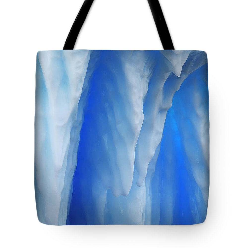 Mp Tote Bag featuring the photograph Detail Of An Iceberg, Antarctica by Jan Vermeer