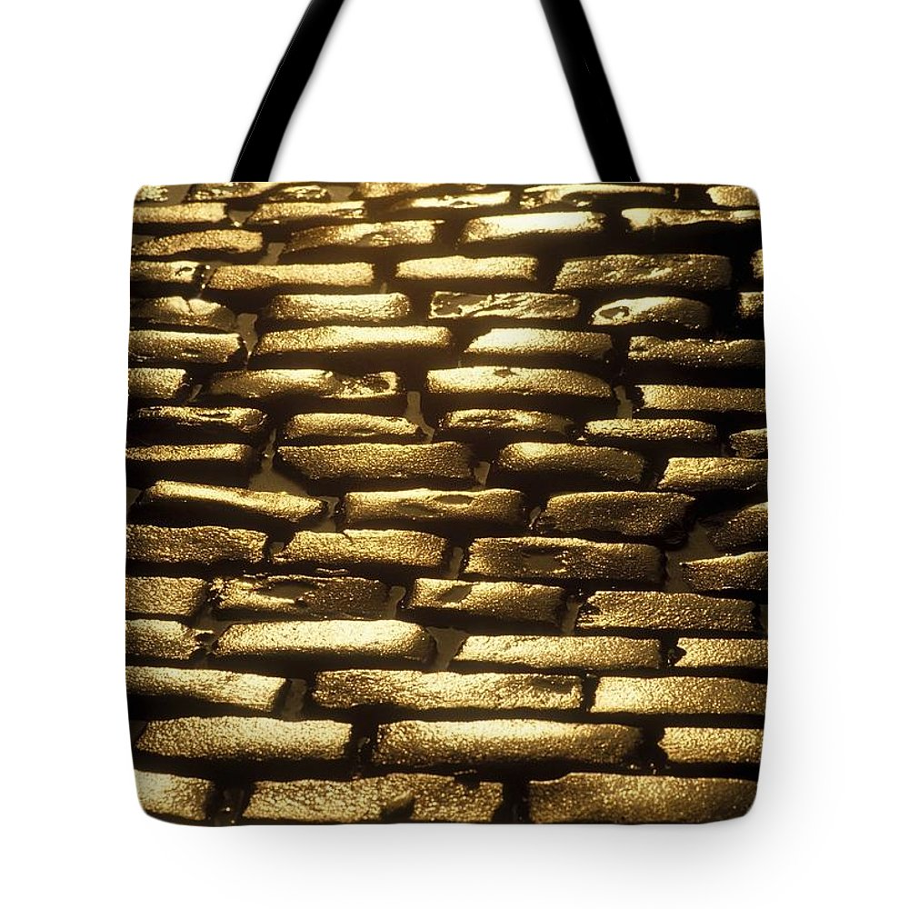 Architectural Detail Tote Bag featuring the photograph Detail Of Cobblestones, Dublin, Ireland by The Irish Image Collection